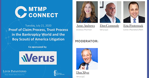 WEBINAR: Proof of Claim Process, Trust Process in the Bankruptcy World and the Boy Scouts of America Litigation